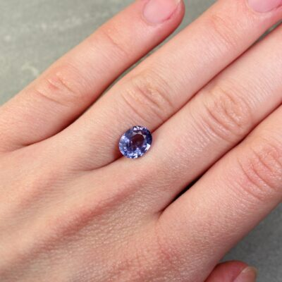 1.96 ct oval purple sapphire