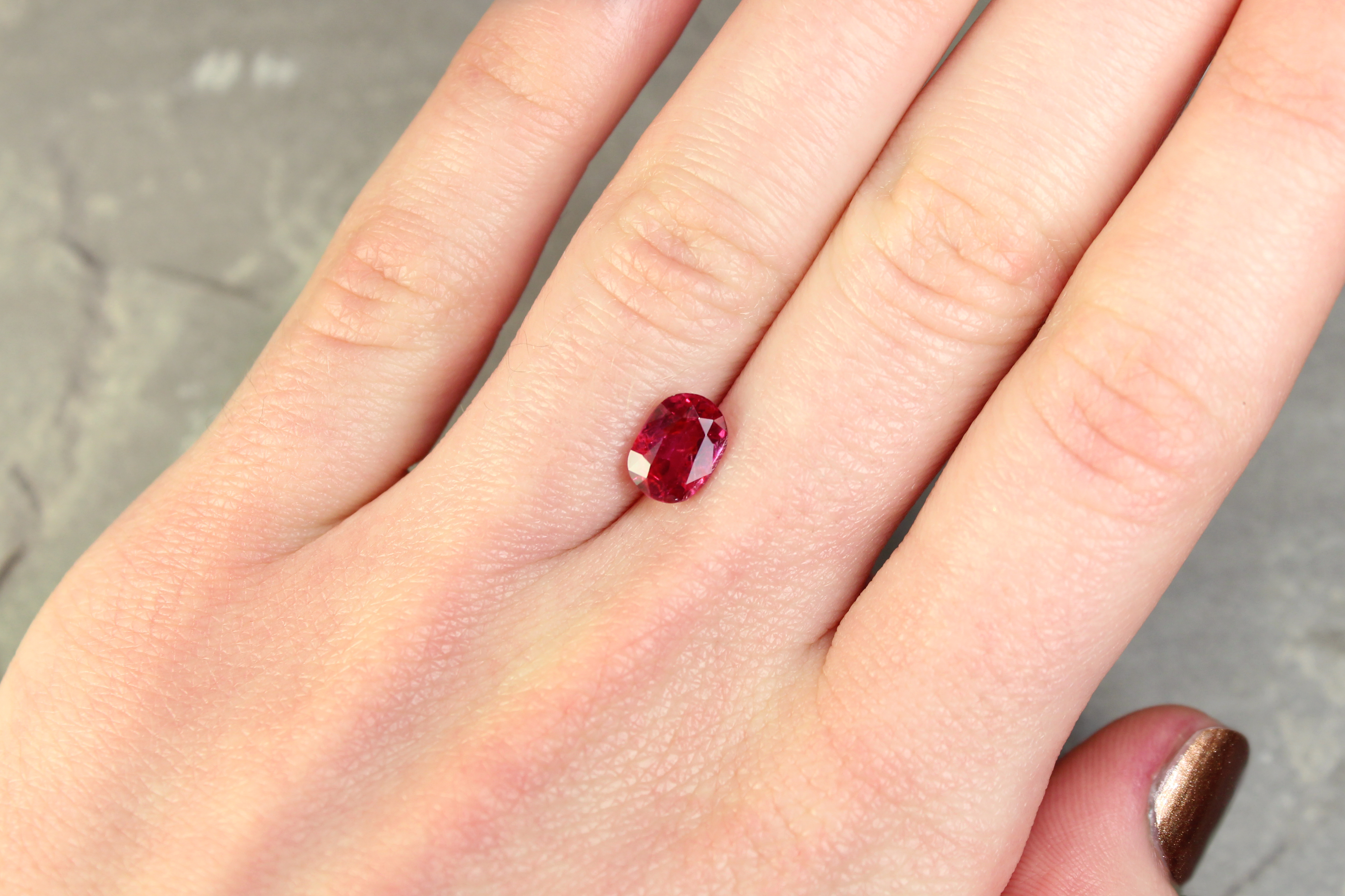 1.99 ct red oval ruby