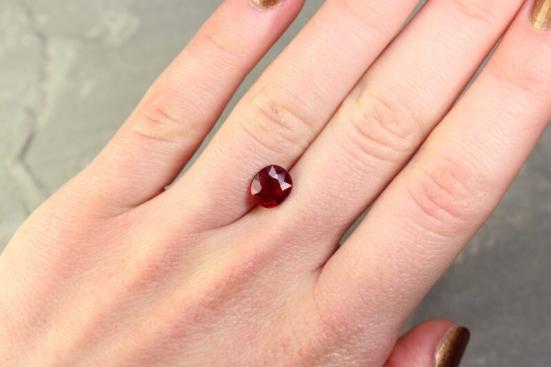2.00 ct red oval ruby