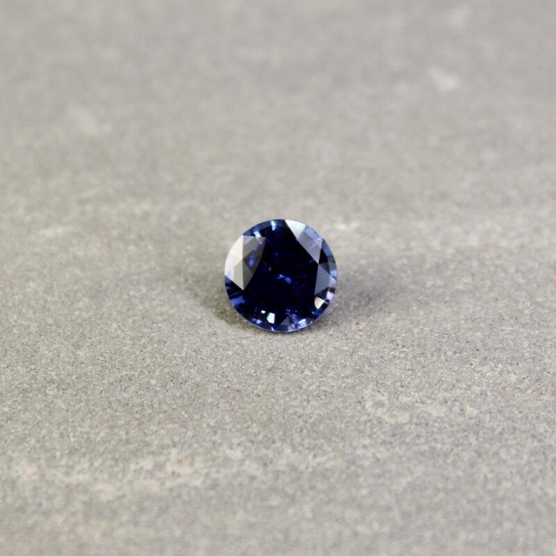2.00 ct round blue sapphire