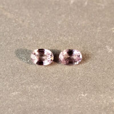 2.04 ct oval pink sapphire pair