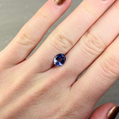 2.11 ct oval blue sapphire