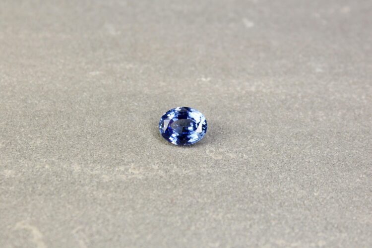 2.11 ct oval blue sapphire