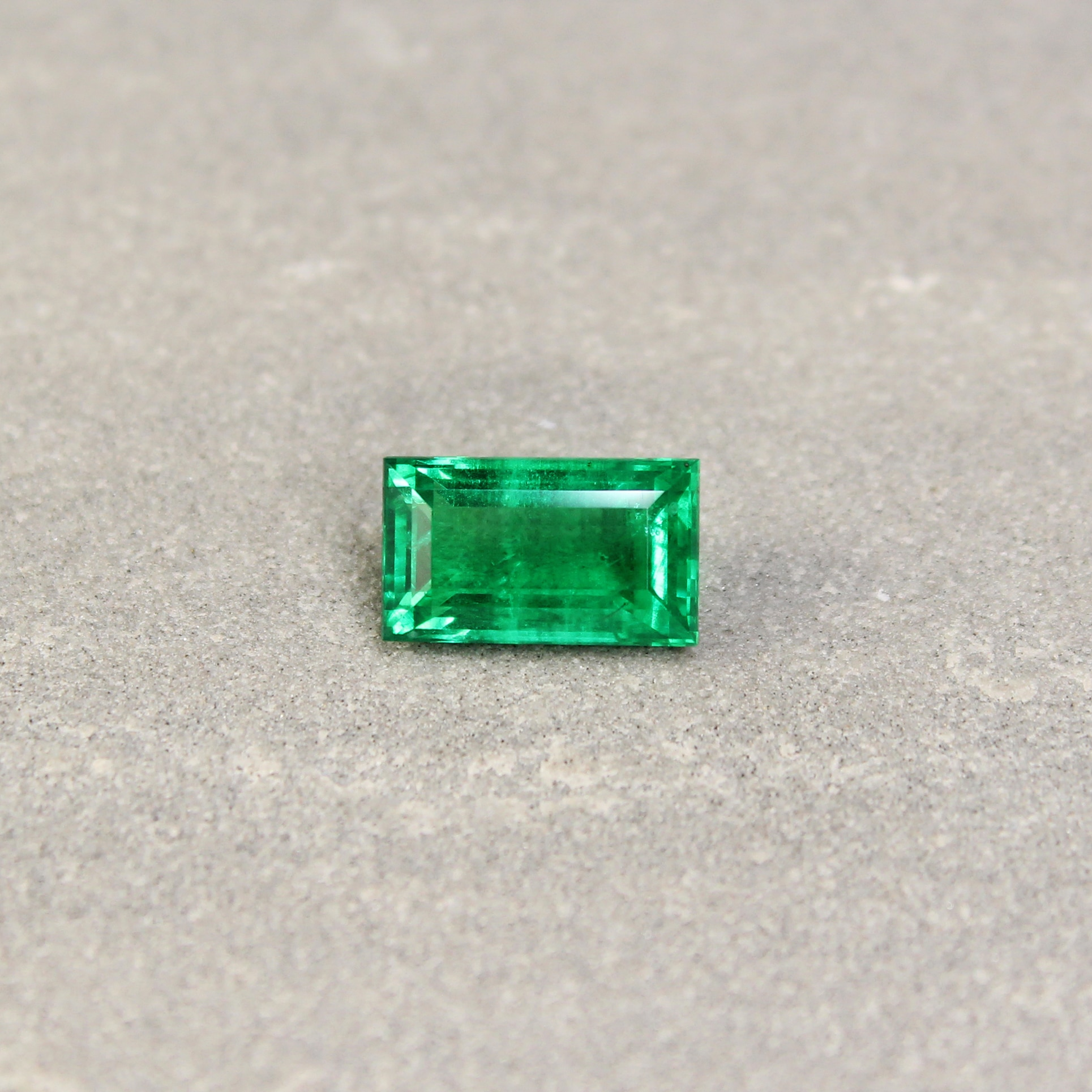 2.24 ct green baguette emerald