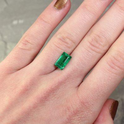 2.24 ct green baguette emerald