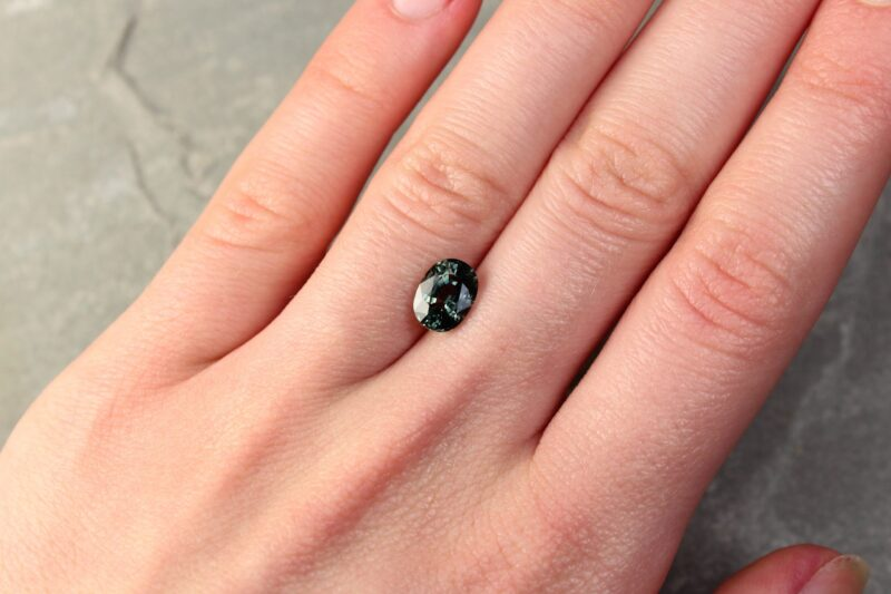 2.25 ct oval green sapphire