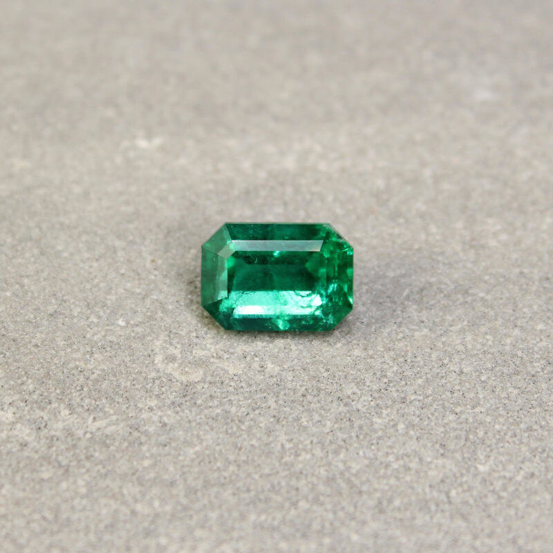 2.26 ct green octagon emerald