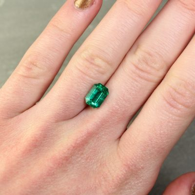 2.26 ct green octagon emerald