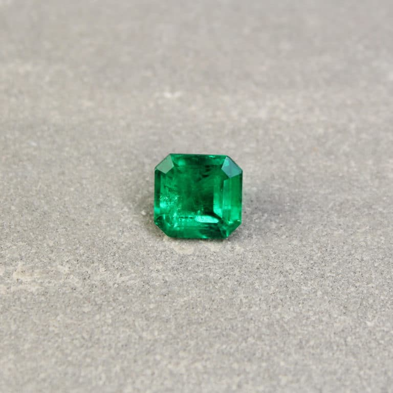 2.29 ct bluish green radiant emerald
