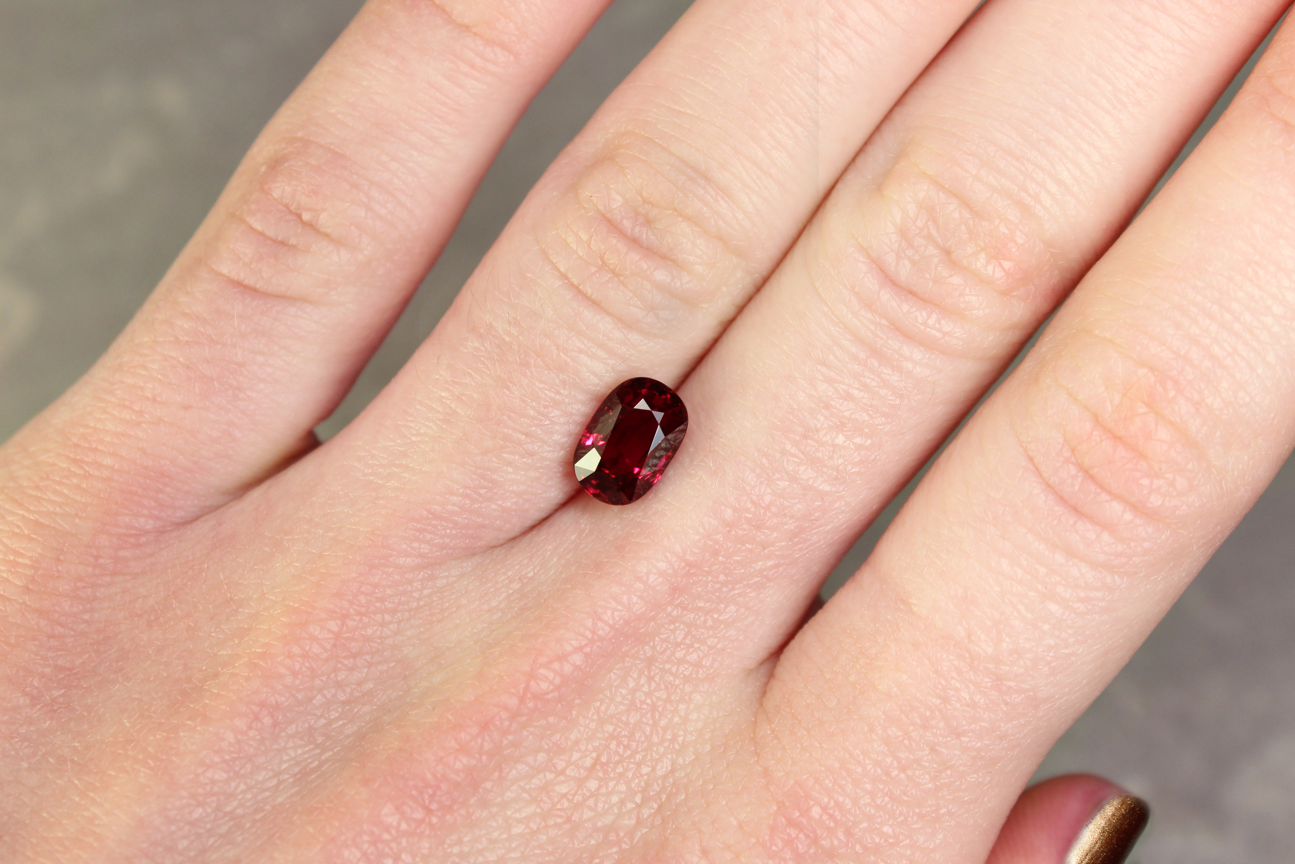 2.54 ct oval vivid red ruby