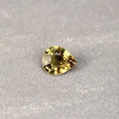 2.61 ct pear shape green sapphire