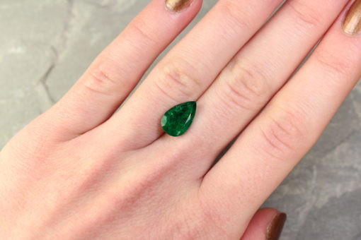 Green Pear Shape Emerald