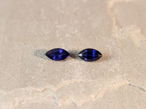 3.17 ct marquise blue sapphire pair