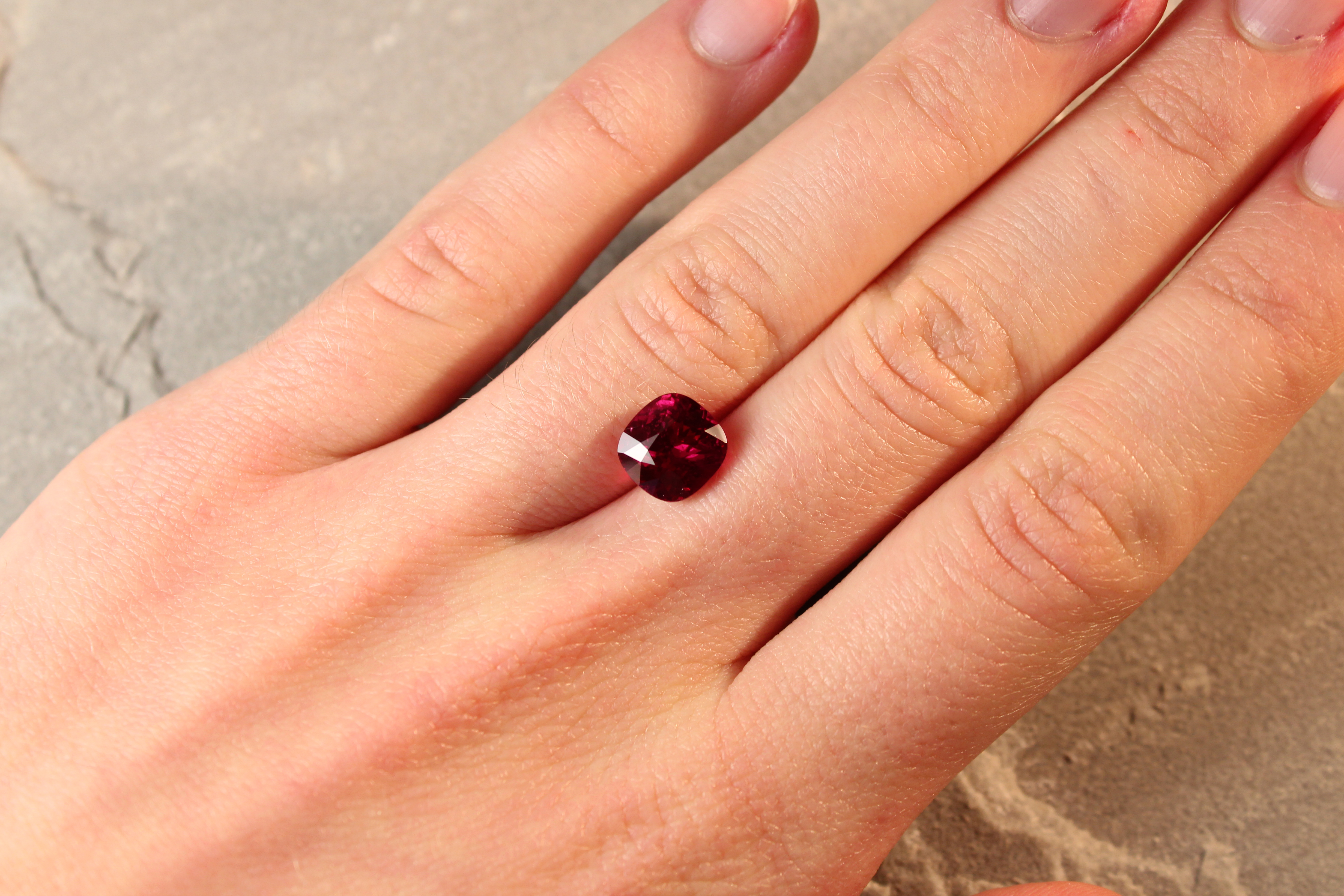 3.75 ct vivid red cushion ruby