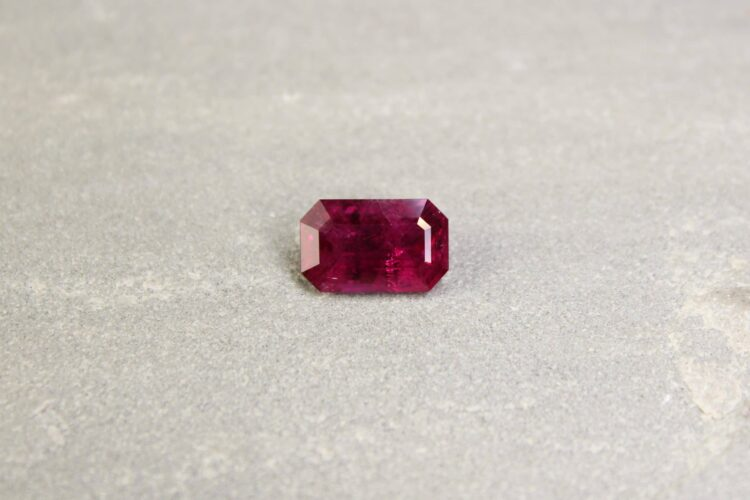 5.16 ct red octagon ruby