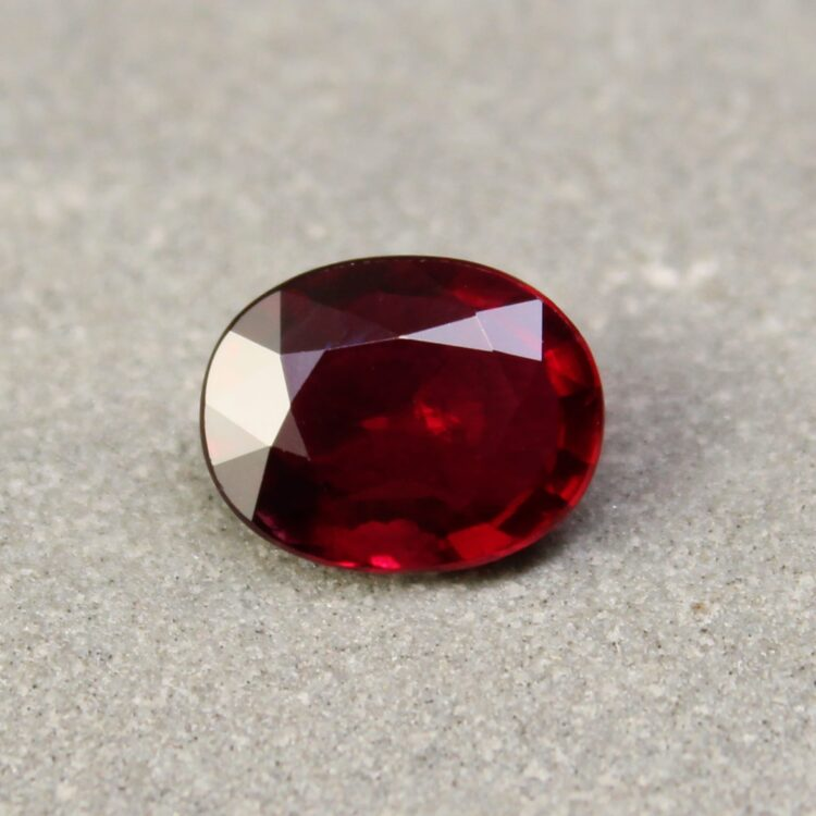 2.02 ct oval red ruby