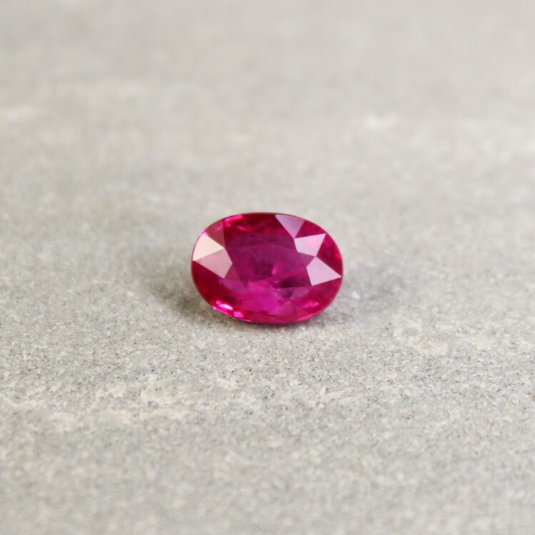 1.56 ct pinkish red oval ruby