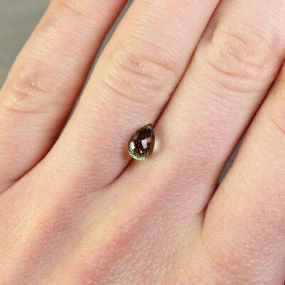 1.64 ct green sapphire briolette