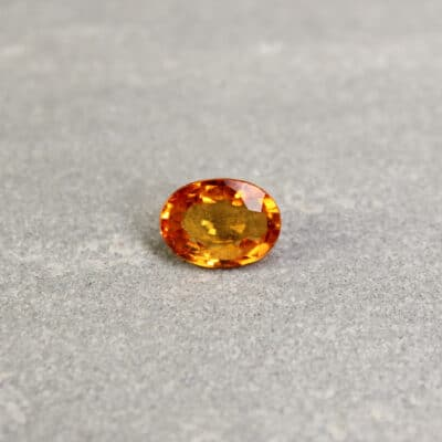 Orange Oval Sapphire