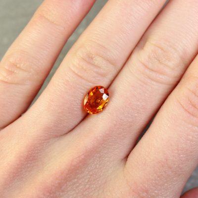 1.80 ct orange oval sapphire