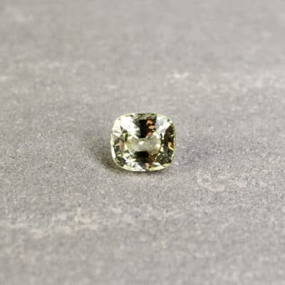 1.92 ct greenish yellow cushion sapphire