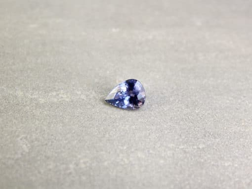 2.25 ct violetish blue pear shape sapphire