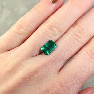Bluish Green Octagon Emerald
