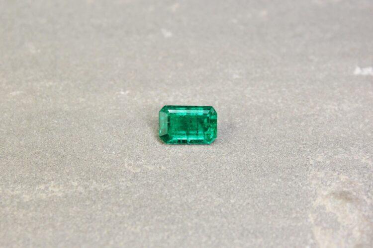 2.32 ct bluish green octagon emerald