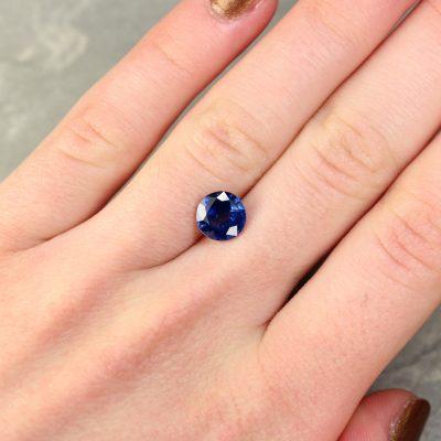2.38 ct blue round sapphire