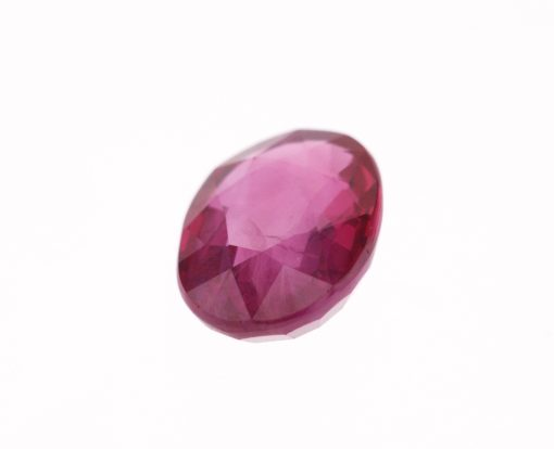 Pinkish Red Oval Ruby
