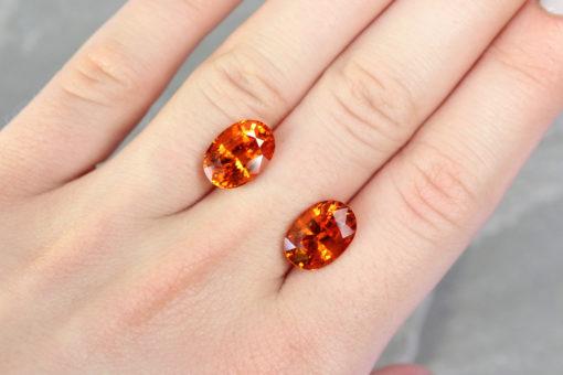 orange sapphire London Haruni Fine Gems