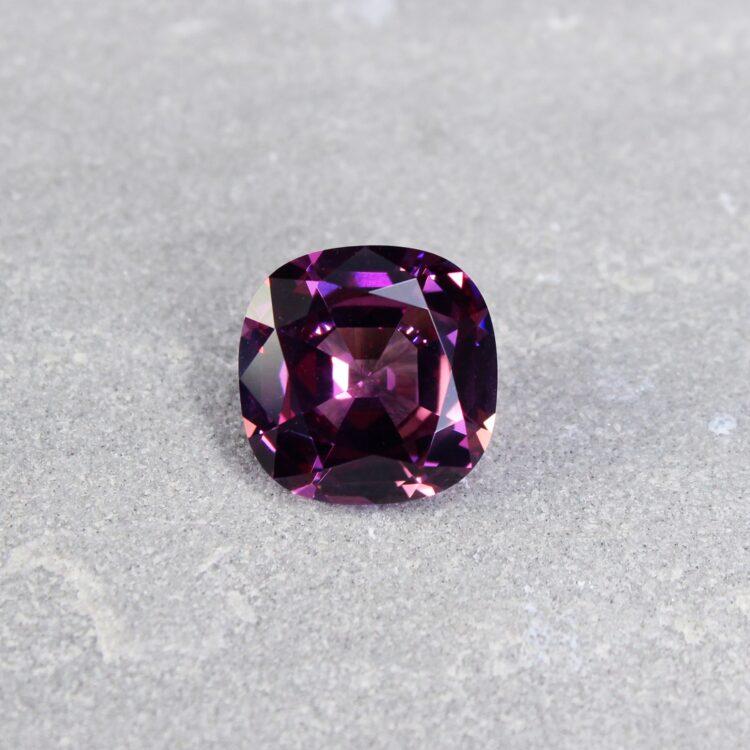 12.08 ct purple cushion rhodolite
