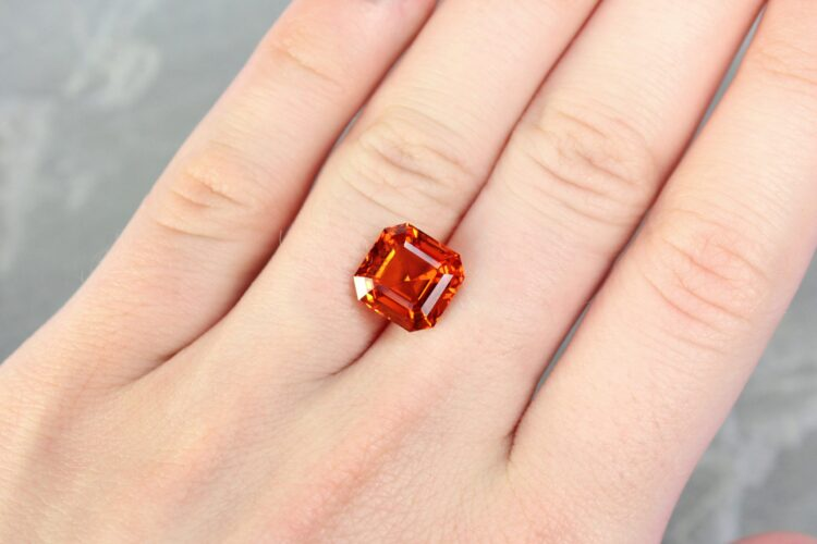 6.56 ct orange cushion spessartite