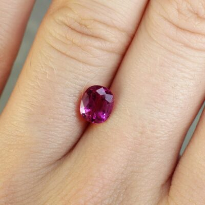 1.46 ct pinkish red cushion ruby