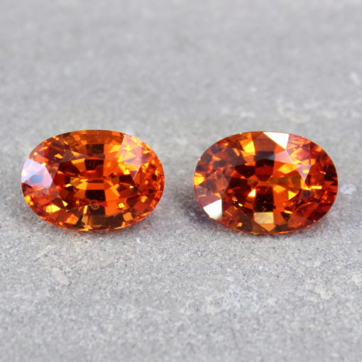 pair of orange sapphire London Haruni Fine Gems
