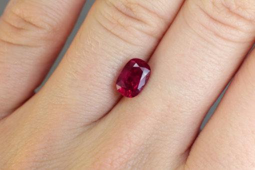 red beautiful ruby Haruni Fine Gems