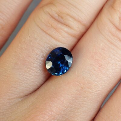 2.79 ct blue oval sapphire