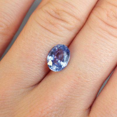 2.32 ct oval blue sapphire