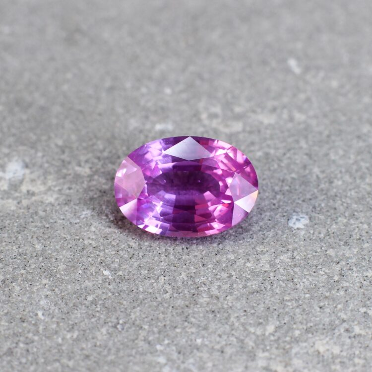 2.46 ct pink oval sapphire