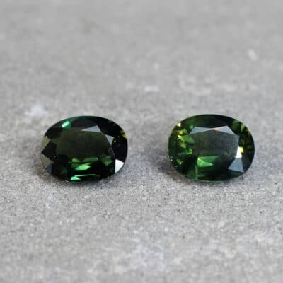 pair of fancy colour sapphire Haruni Fine Gems