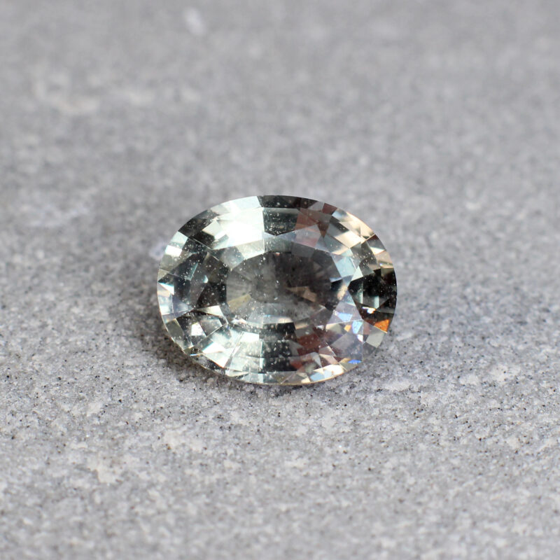 3.07 ct light green oval sapphire