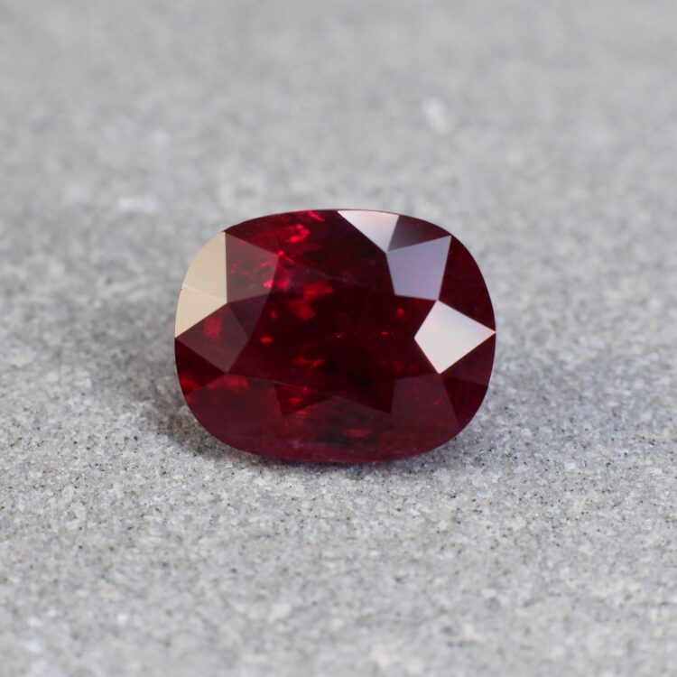 4.08 ct red cushion ruby