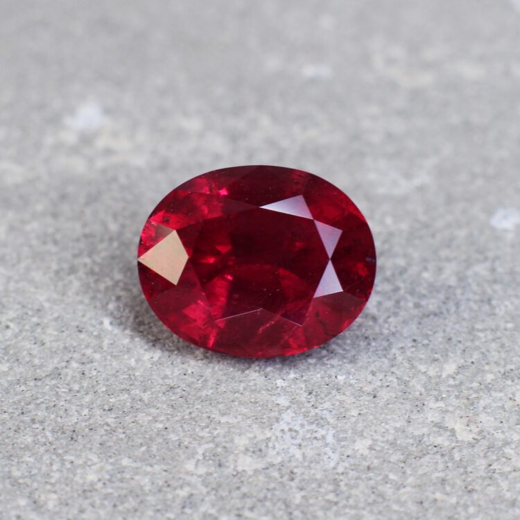 4.09 ct vivid red oval ruby