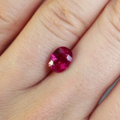 2.11 ct red oval ruby