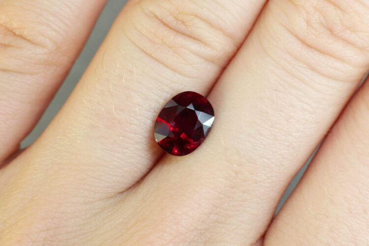 2.17 ct red oval ruby