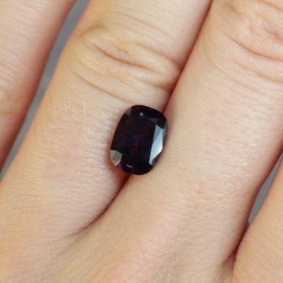 2.24 ct purple cushion sapphire