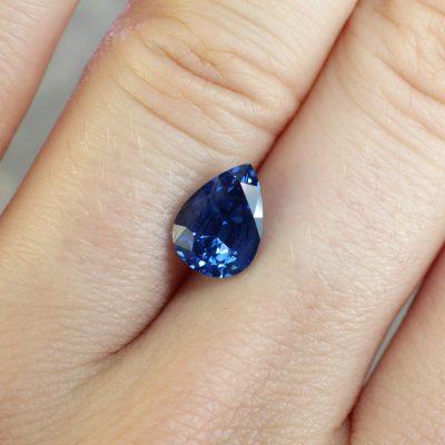 pear blue sapphire Haruni Fine Gems