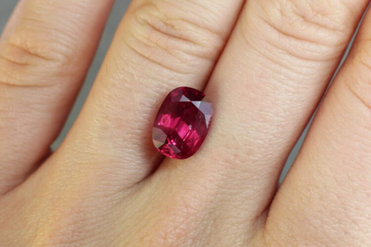 4.12 ct red oval ruby