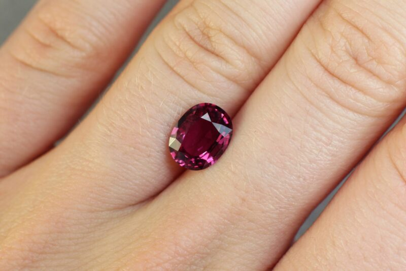 2.05 red oval ruby