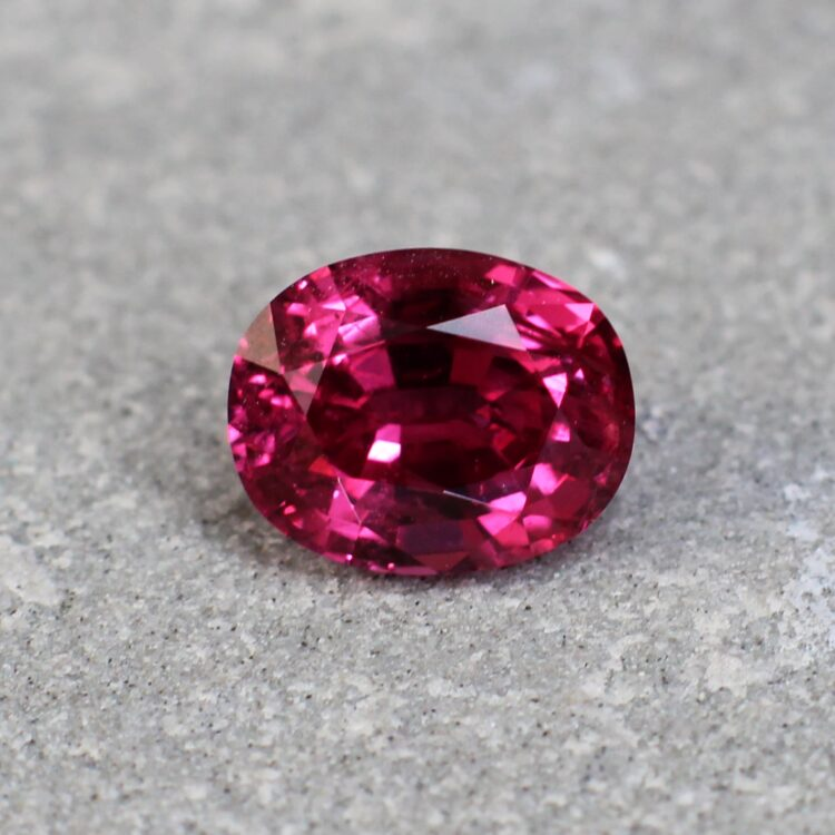 1.61 ct red oval ruby